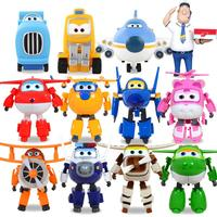 Big size!! 12pcs/set Super Wings Mini Figures ABS Robot Toys Superwings Q Version Cute Mini Airplane Robot for Birthday Gift toy