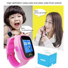 Waterproof Children Wearable watch phone With Sim Card Gps Tracker Kids Wrist Watch Mobile phone App for Android IOS(China)
