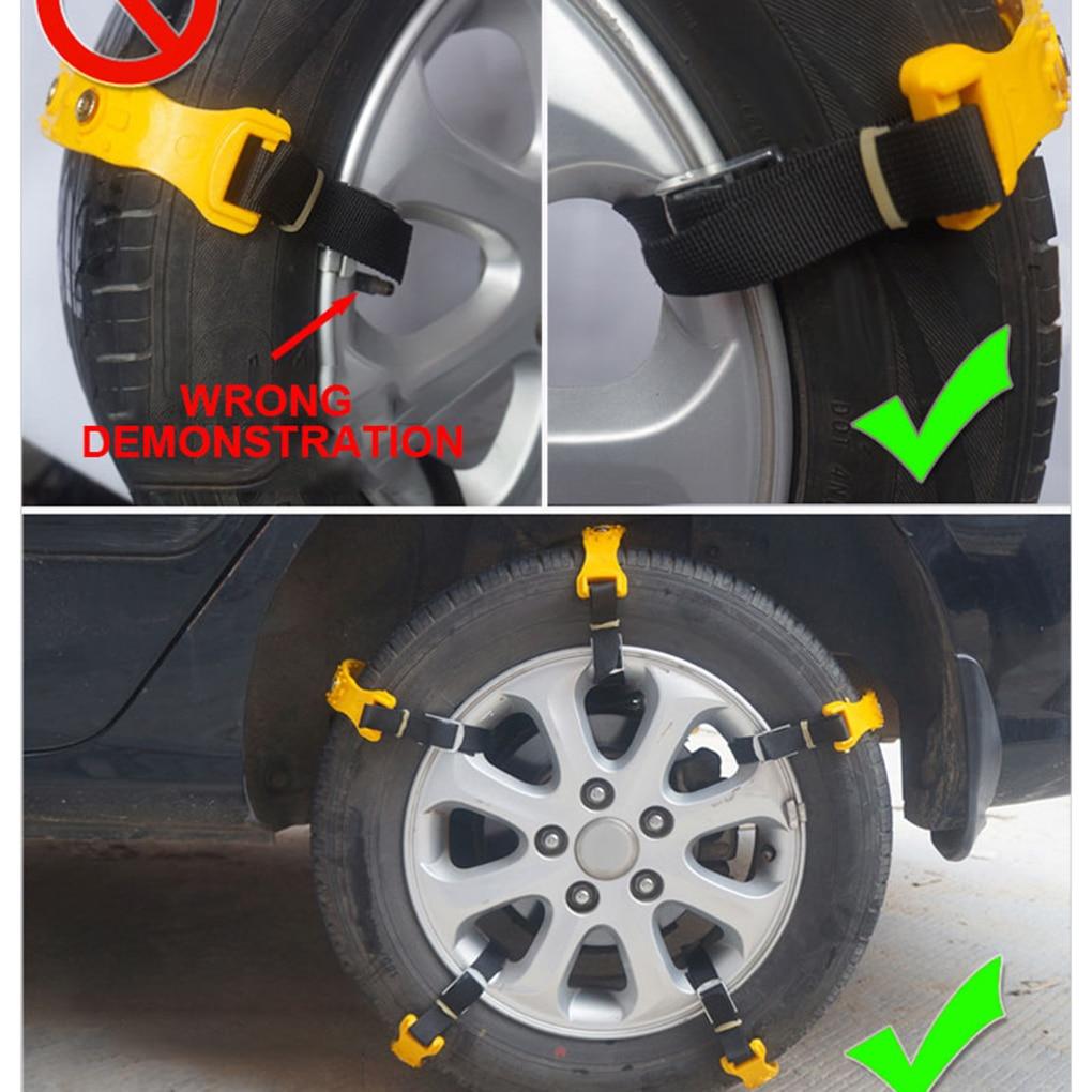10 pièces/ensemble voiture véhicule camion hiver neige d'urgence épaississement anti-dérapant chaînes simple boucle Non-glissant pneus chaînes - 2