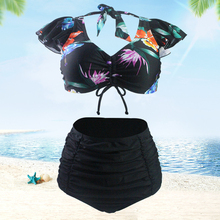 Swimwear woman sexy bikini push up 2019 swimwear sexi High waist set brazilian high beach wear