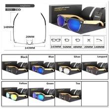 HDCRAFTER Semi-Rimless Wood Sunglasses PC Frame Handmade Bamboo Sunglass Men Wooden Sun Glasses Women Oculos de sol masculino