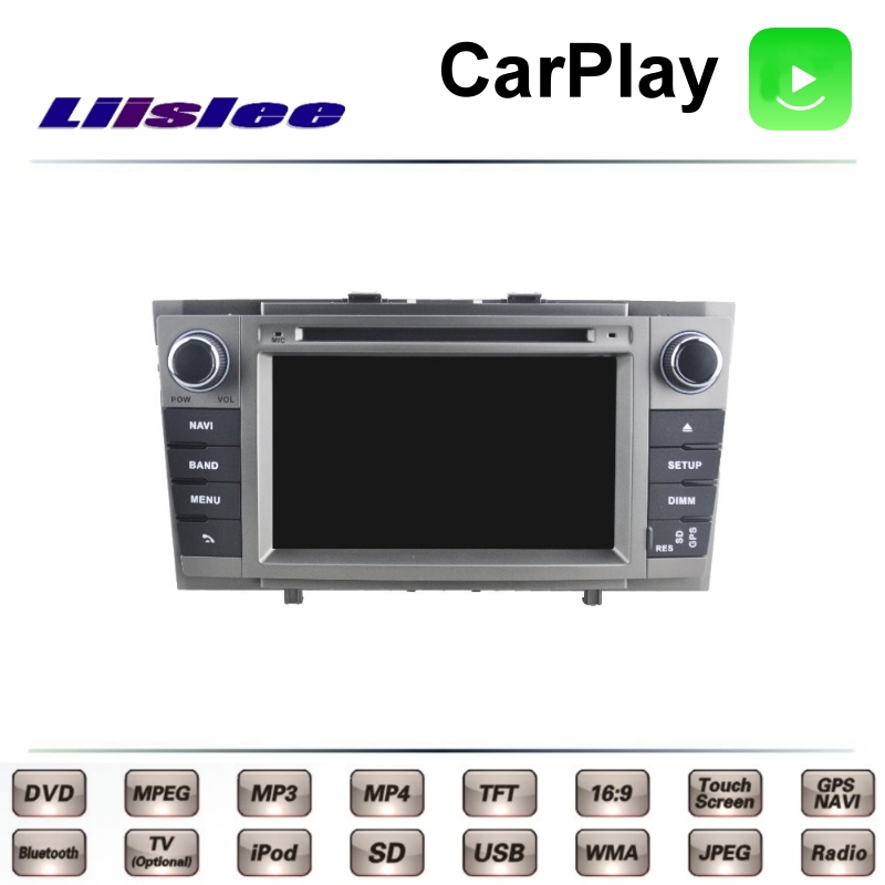 LiisLee Car Multimedia For TOYOTA Avensis T270 2009~2015 NAVI TV DVD GPS Radio Carplay Original Style Navigation