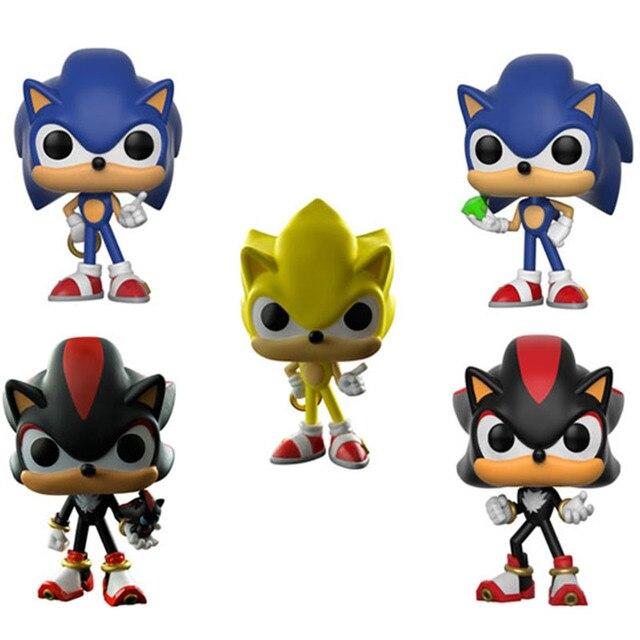 FUNKO POP Sombra de Sonic Tails Personagens Figura de Vinil Ouriço Boneca Modelo Coleção Figuras de Ação Figura Brinquedos para As Crianças