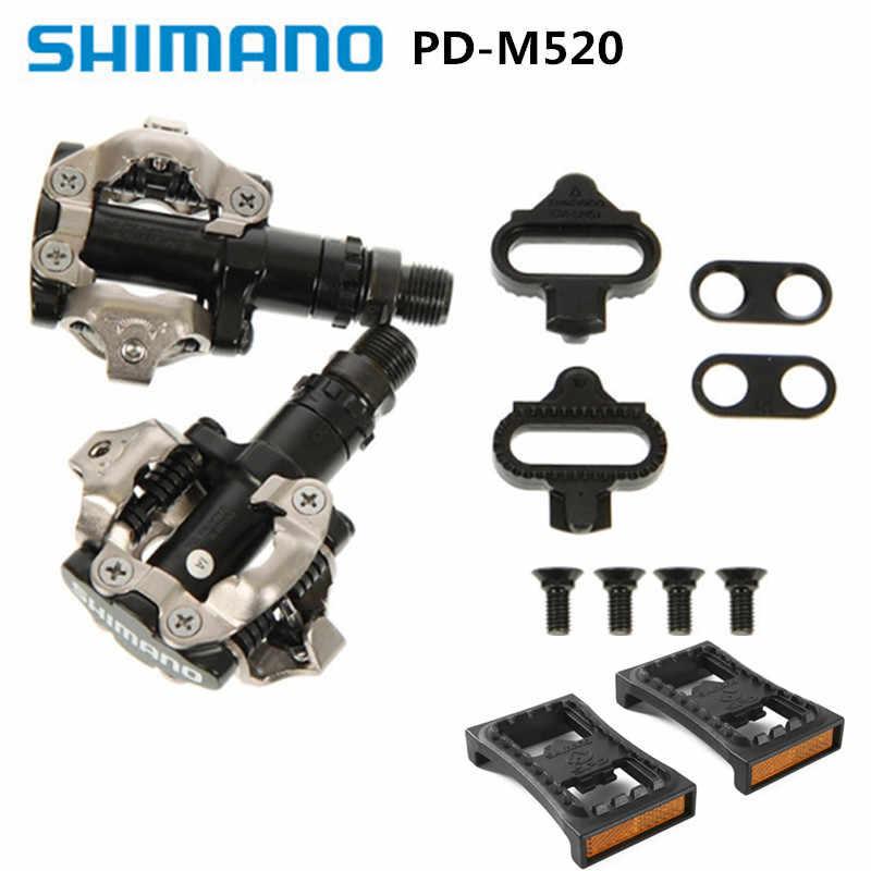 018ed349afe SHIMANO PD-M520 540 Black lock pedal mountain bike self-locking pedal can  add