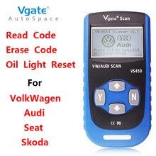 Vgate VS450 ABS Airbag Escáner Herramienta de Diagnóstico OBD2 Para VAG Audi Com Asiento Skoda VW Auto Automotriz de Diagnóstico OBD 2 OBDII Scaner