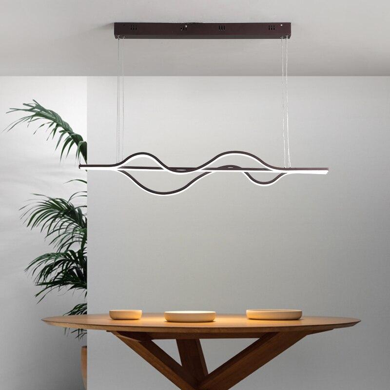 LICAN Wave подвесные светильники лампы для гостиной Кухня офисные подвесной светильник Алюминий PC подвесные лампы шнур подвесные светильники