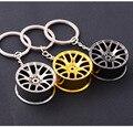 Car Styling Metal Keychain Cool Luxury Wheel Hub Key Ring Fit For Car BMW VW Audi Toyota Honda Ford Key Holder Accessories