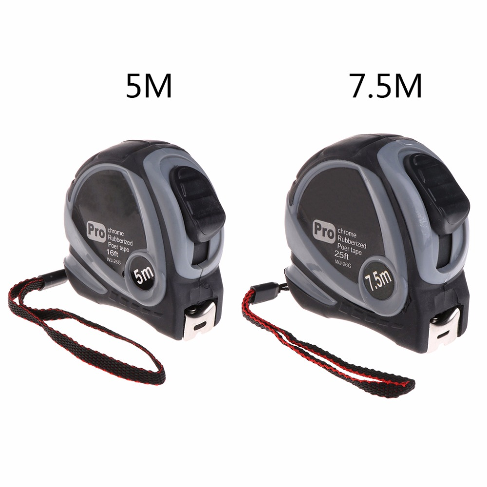 MEASURING TAPE Measures 3m 5m 7.5m Pocket Size Long Lock Blade Tape Fiber Ruler