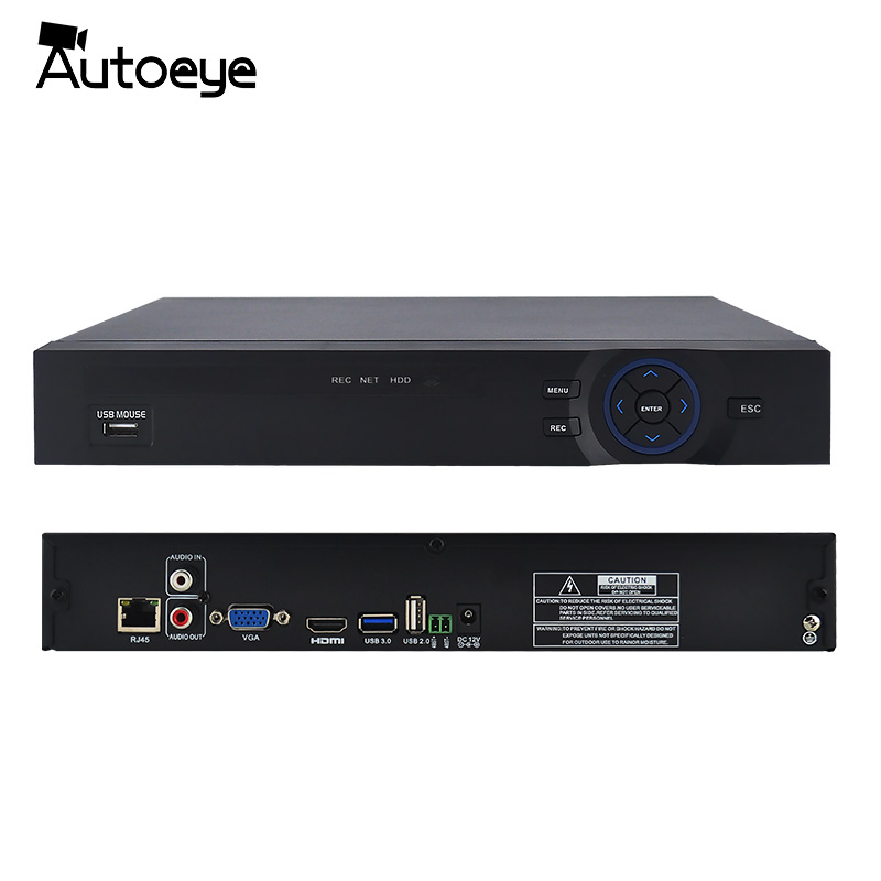 Autooeye 32CH 1080 p NVR XMEye P2P Cloud HI3535 Processeur Réseau de Sécurité Enregistreur NVR Soutenir 32CH 1080 p/16CH 4MP CIB