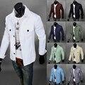 9 colores del envío del nuevo 2016 de la moda de primavera 8 colores clothing prendas de abrigo al aire libre slim fit casual chaqueta de mezclilla delgada hombres