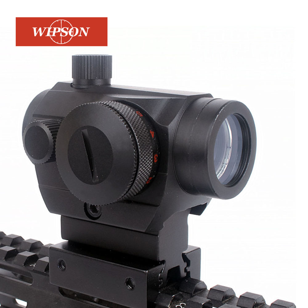 WIPSON Tactical Hunting Red Green Dot Reflex Sight Scopes With High/Low Dual Profile Rail Mount Airsoft Air Guns Rifle Red Dot S