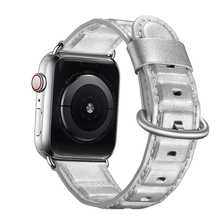 цены на Silver Color Watch Bands Strap Watchband Leather Men , VIOTOO Leather Watch Band for Apple Watch 4 44 38 mm  в интернет-магазинах