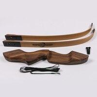 1 шт. Популярные охотничий лук 60 ''стрельба из лука изогнутый лук деревянный демонтаж лук различные фунта стерлингов варианты