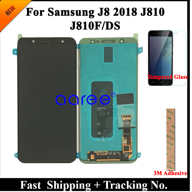 Tested Super AMOLED Original LCD  For Samsung J8 2018 LCD For Samsung J810 J8 2018 Display Touch Screen Digitizer Assembly-in Mobile Phone LCD Screens from Cellphones & Telecommunications    1