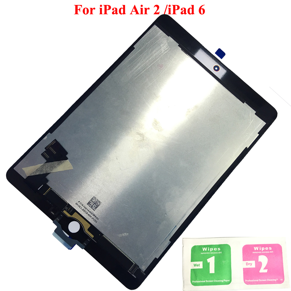 100% de Travail LCD Affichage à L'écran Tactile Digitizer Capteurs L'assemblée Panneau Remplacement Pour Apple iPad 6 Air 2 A1567 A1566