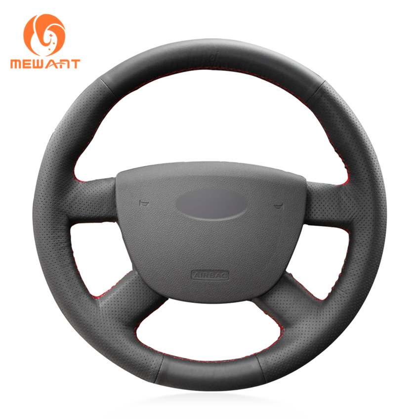 Ford C Max Leather Seats: MEWANT Black Artificial Leather Car Steering Wheel Cover
