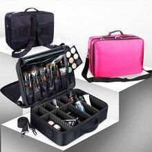 QMJHVX макияж художник дорожные аксессуары Professional чемоданчик для косметики для косметички полу-Перманентная Татуировка гвозди Multi-Lay
