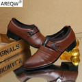 2017 New Men's Dress Business Casual Shoes Soft Young British Fashion Men's Shoes Set Foot Pointed Flat 38-45