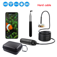1200P Telescoping Wifi Endoscope Inspection Camera IP68 Waterproof 2.0MP Semi Rigid WiFi Borescope With 8 LED For iOS Android