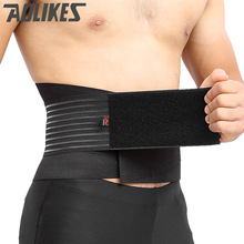 все цены на AOLIKES Lumbar Support Waist Pain Back Injury Prevent Supporting Brace For Fitness Weightlifting Belts Sports Safety Corrector онлайн