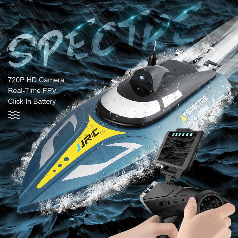 In Stock!! JJRC S4 Ghost 2.4G 25km/h RC Boat 720P HD Camera WIFI FPV App Control SPECTRE W/ Water Cooling System VS S1 S2 S3In Stock!! JJRC S4 Ghost 2.4G 25km/h RC Boat 720P HD Camera WIFI FPV App Control SPECTRE W/ Water Cooling System VS S1 S2 S3