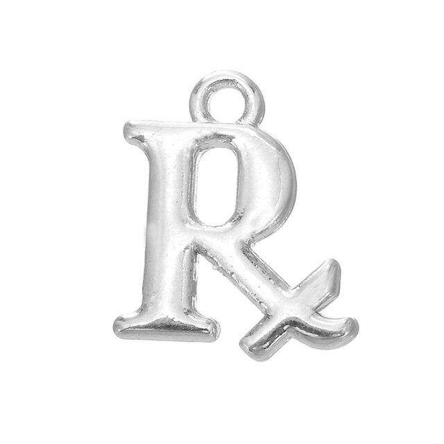 Haeqis Fashion Alloy Pharmacy Symbol Charms Rx Medical Charms 13