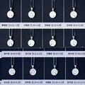 Real 925 joyería de Plata Esterlina Disco Constelación Colgante con piedra natal Astrología Horóscopo Collar para el Regalo de Cumpleaños X1045