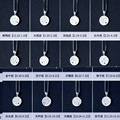 real 925 Sterling Silver jewelry Constellation Pendant with birthstone Horoscope Astrology Disc Necklace for Birthday Gift X1045