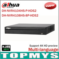 Cost Effective Dahua 8MP Network Video Recoder NVR4108HS 8P HDS2 NVR4104HS P HDS2 4 8CH NVR