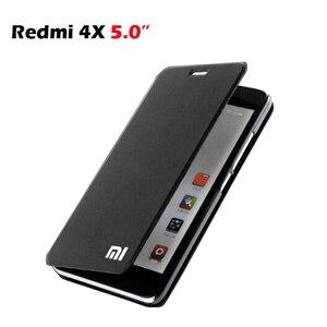"""Image 1 - Etui na Xiaomi Redmi 4X PU luksusowe biznes etui z klapką stojak na przypadku Xiaomi Redmi 4x Snapdragon 435 kartą trzymaj telefon pokrywa 5 """"ochraniacz"""