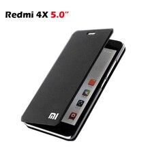 """Xiaomi redmi 4x 케이스 pu 고급 비즈니스 플립 커버 스탠드 케이스 xiaomi redmi 4x snapdragon 435 카드 홀드 폰 커버 5 """"수호자"""