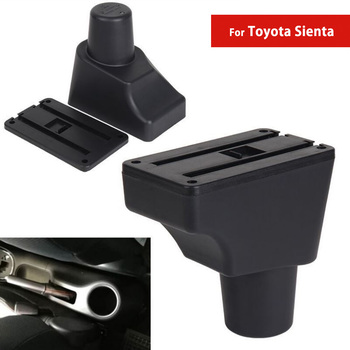 For Toyota Sienta Car Center Console Box Auto Armrest Storage with CUP Holders