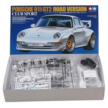 OHS Tamiya 24247 1/24 911 GT2 versión carretera Club Sport escala ensamblaje Kits de construcción modelo de coche G