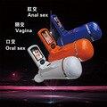 Novo Vídeo máquina de masturbação masculina, 3 tipo elétrico mãos masculinas grátis masturbador cup (buceta vaginal/anal/brinquedo do sexo oral para homens)