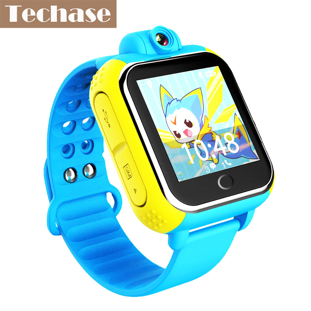 Techase Android OS Smartwatch Child GPS Watch Phone GPS Tracker Smart Baby Watch 3G SOS Location Tracking Clock Children Camera ds18 waterproof smart baby watch gps tracker for kids 2016 wifi sos anti lost location finder smartwatch for ios android pk q50