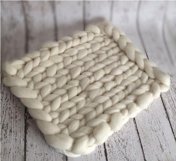 40 * 40 cm fofo feltro de lã de lã de lã puro Real cesta Stuffer enchimento adereços fotografia de recém-nascidos