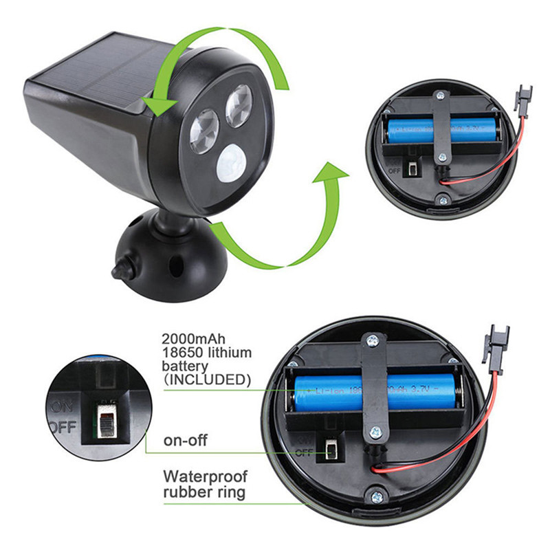 pir sensor solar lighting
