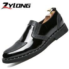 Men Dress Shoes Leather Plus Size 38-47 High Quality Men Shoes Italian Style Man Oxfords Elegant Wedding Shoes Black Gold Silver цена в Москве и Питере