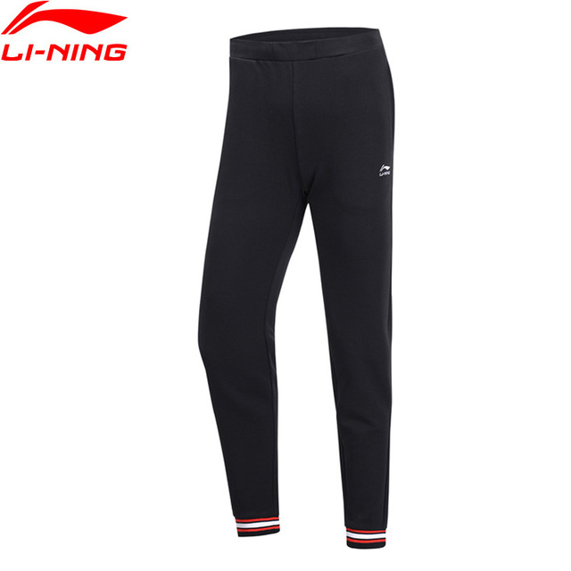 Li-Ning Women The Trend Sweat Pants Regular Fit 71% Cotton 29% Polyester LiNing Fitness Sports Pants Trousers AKLP138 WKY226