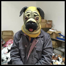 Free Shipping Party Cosplay Animal cute pug mask animal Cartoon Style Deluxe Latex Mask ,animal-like life mask ,party supply