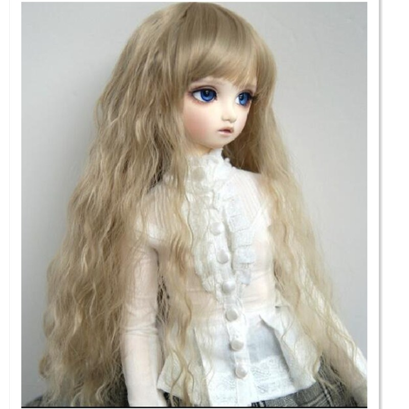 1/3 SD BJD Wig High Temperature Wire Long Wavy Wig Hair for Dolls,Synthetic Hair for Dolls Accessories,Lovely Curly Doll Wigs synthetic bjd wig long wavy wig hair for 1 3 24 60cm bjd sd dd luts doll dollfie cut fringe