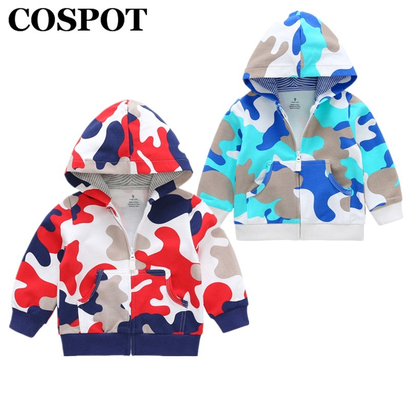 COSPOT 2018 New Girls Coat Spring Cotton Zipper Sweatshirt Hoodies Outfits Baby Boys Kids Newborn Clothes Boys Hooded Jacket 35E