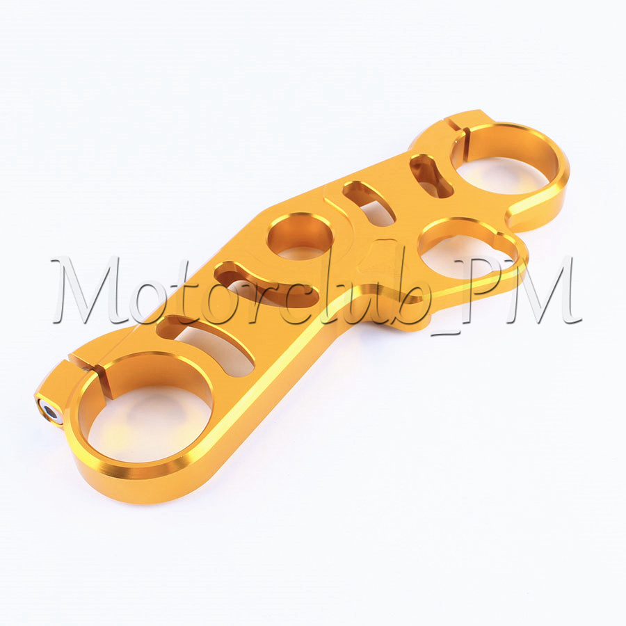 CNC Front End Top Clamp Upper Triple Tree For Suzuki GSXR600/750 2006-2009 2007 2008 GSXR1000 2007-2008 Gold for bmw 3 series e36 318 328 323 325 front coilover strut camber plate top mount green drift front domlager top upper mount