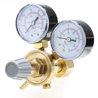 Copper Pressure Adjustment Reducer Argon CO2 Gauge Mig Regulator Flow Meter Control Valve Dual Gauge Welding Regulator
