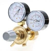 Copper Pressure Adjustment Reducer Argon CO2 Gauge Mig Regulator Flow Meter Control Valve Dual Gauge Welding Regulator