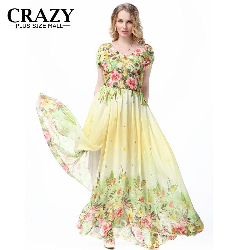 Online Shop Large Size L 7xl Bohemian Style Summer Dress 2018 Plus