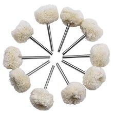 URANN 10pc 3mm 2,35mm Wolle Polieren Pinsel Dremel Zubehör Schleifen Polieren Rad Grinder Kopf Bohrer Dreh Werkzeug zubehör