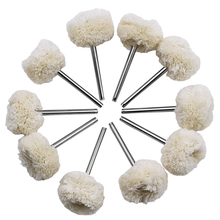 URANN 10pc 3mm 2.35mm Wool Polishing Brush Dremel Accessories Grinding Buffing Wheel Grinder Head Drill Rotary Tool Accessories