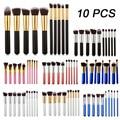10pcs Cosmetics makeup brushes set  professional tools kit  Woman's Kabuki makeup brush set Foundation brush pincel de maquiagem