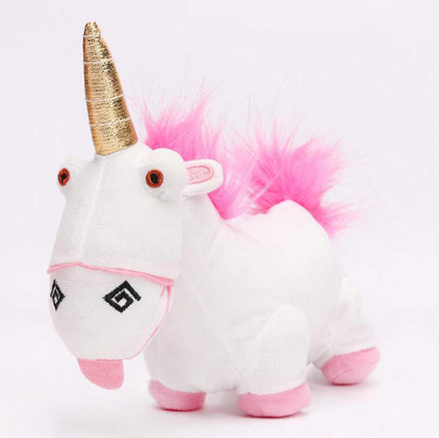 Despicable Me Fluffy Unicorn Cute Movie Plush Toy 18cm Stuffed Animals Plush Toys